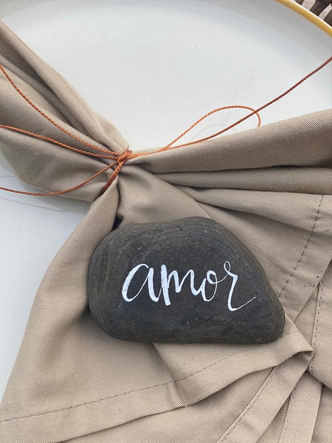 Marcar sobre una piedra