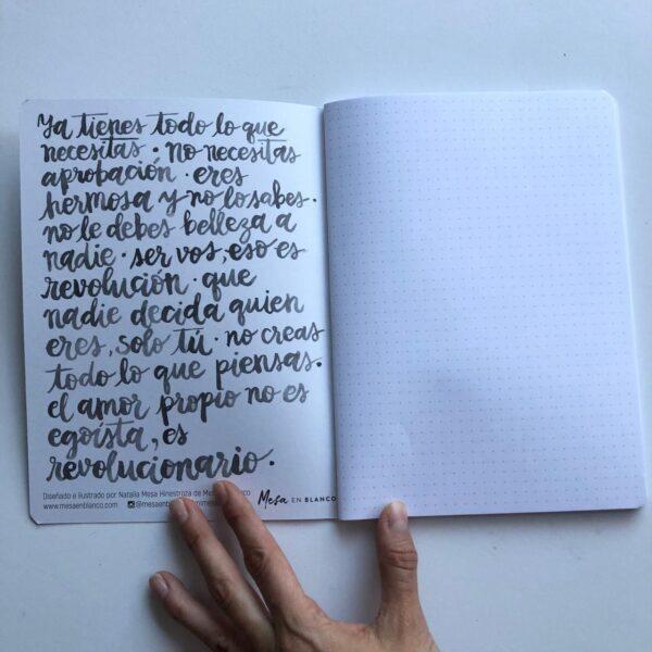 Cuaderno Mesa en Blanco Interior