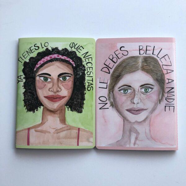 Cuaderno acuarelas Mujeres Mesa en Blanco