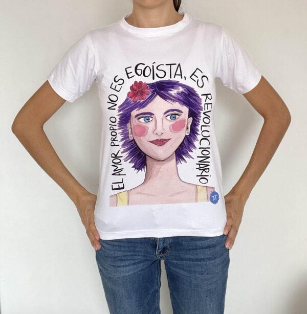 Camiseta amor propio Mesa en Blanco