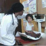 Medical student in the clinic of Jocotenango a town near Antigua Guatemala