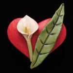 Sandra Luehrsen Red Heart with Calla