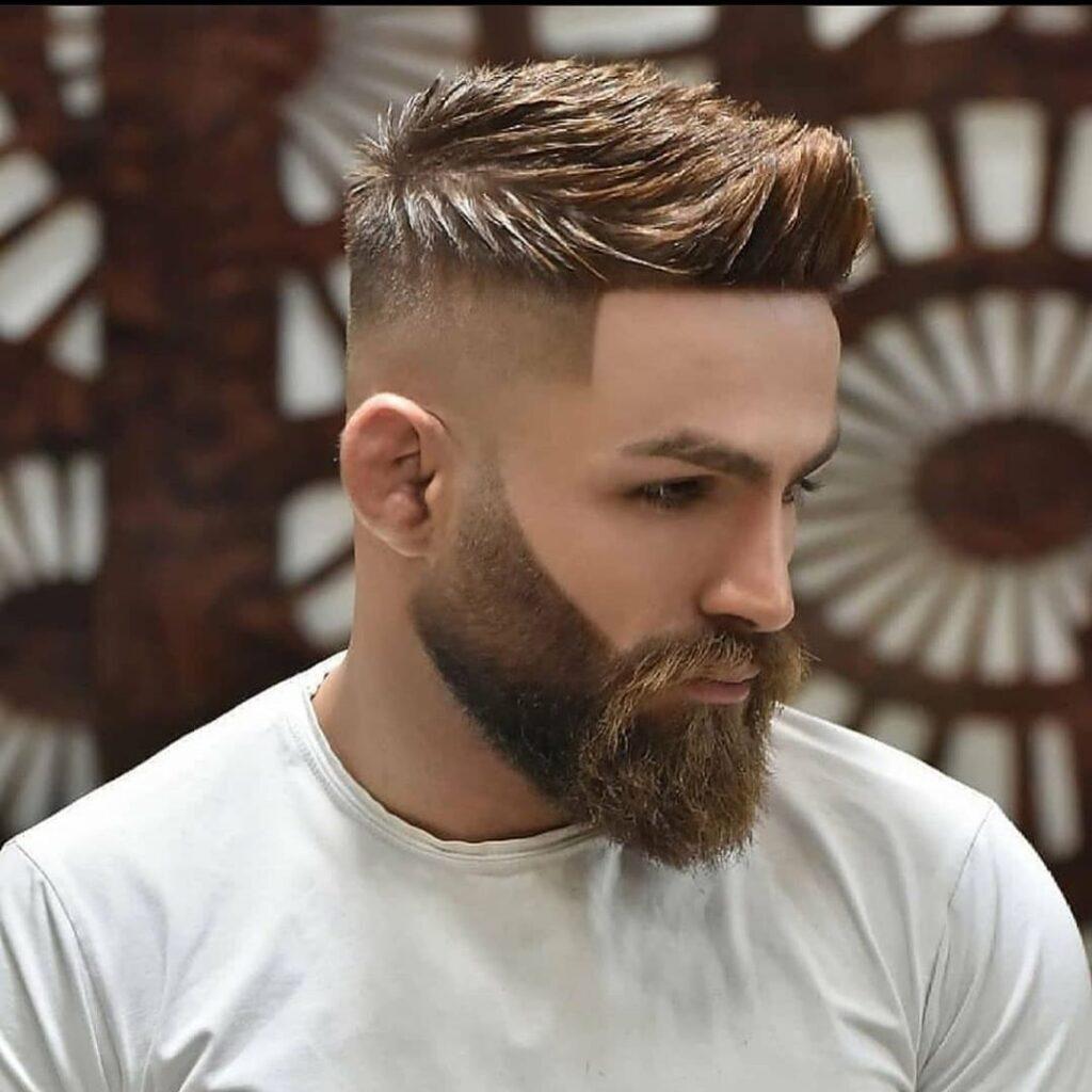 High Skin Fade Spiky + Beard