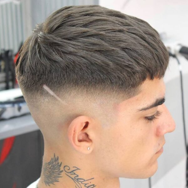 Textured Crop + Mid Skin Fade mens haircuts 2021