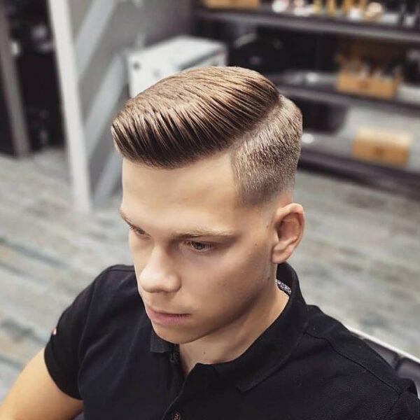Comb Over + Taper Fade