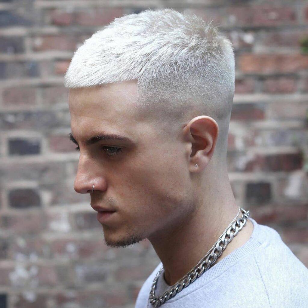 Buzz Cut + White Hair