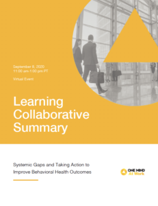 Learning Collaborative Summary - Behavioral Health Cover