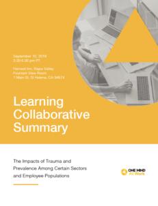 Learning Collaborative Summary - Trauma cover