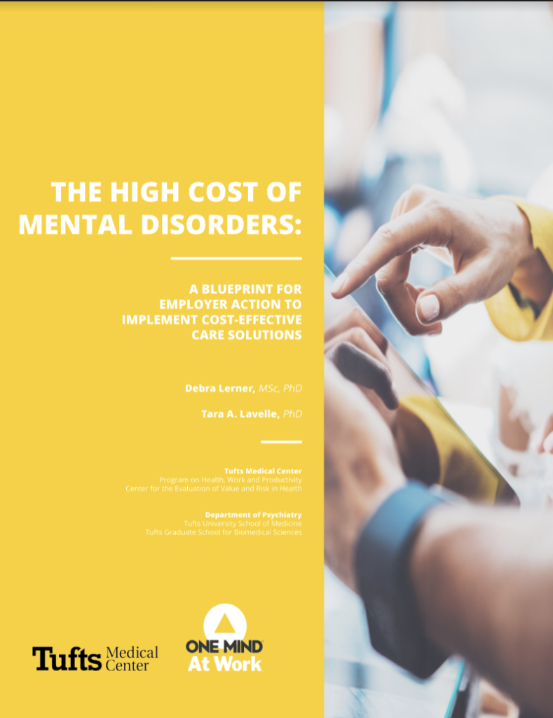 High Cost of Mental Disorders Report Cover