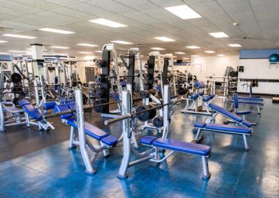 The Club Kona weight room