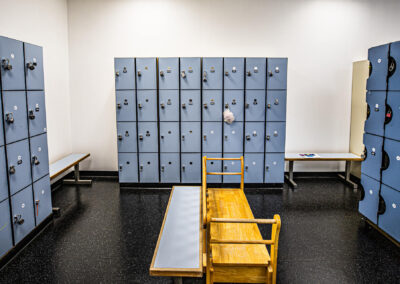 The Club Kona locker room