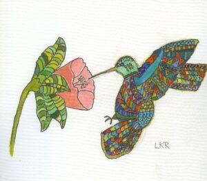 Zentangle Hummingbird