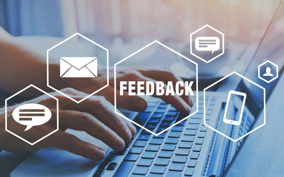 Hands on keyboard to give feedback