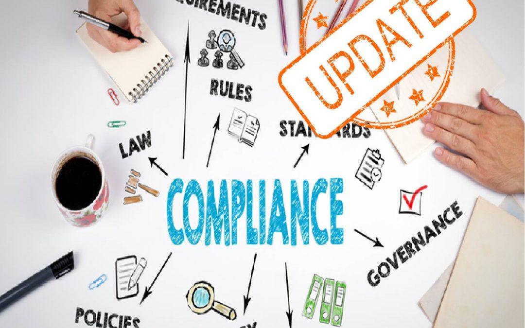 Update stamp over the word compliance Tulsa medical marijuana attorney