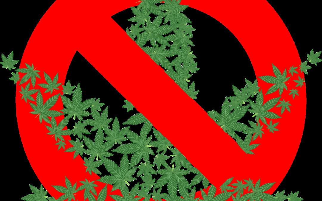 marijuana leaf with a slash through it