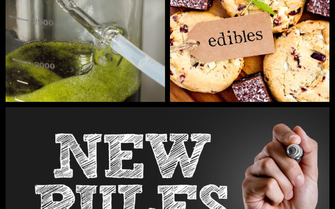 Photo collage showing marijuana edibles