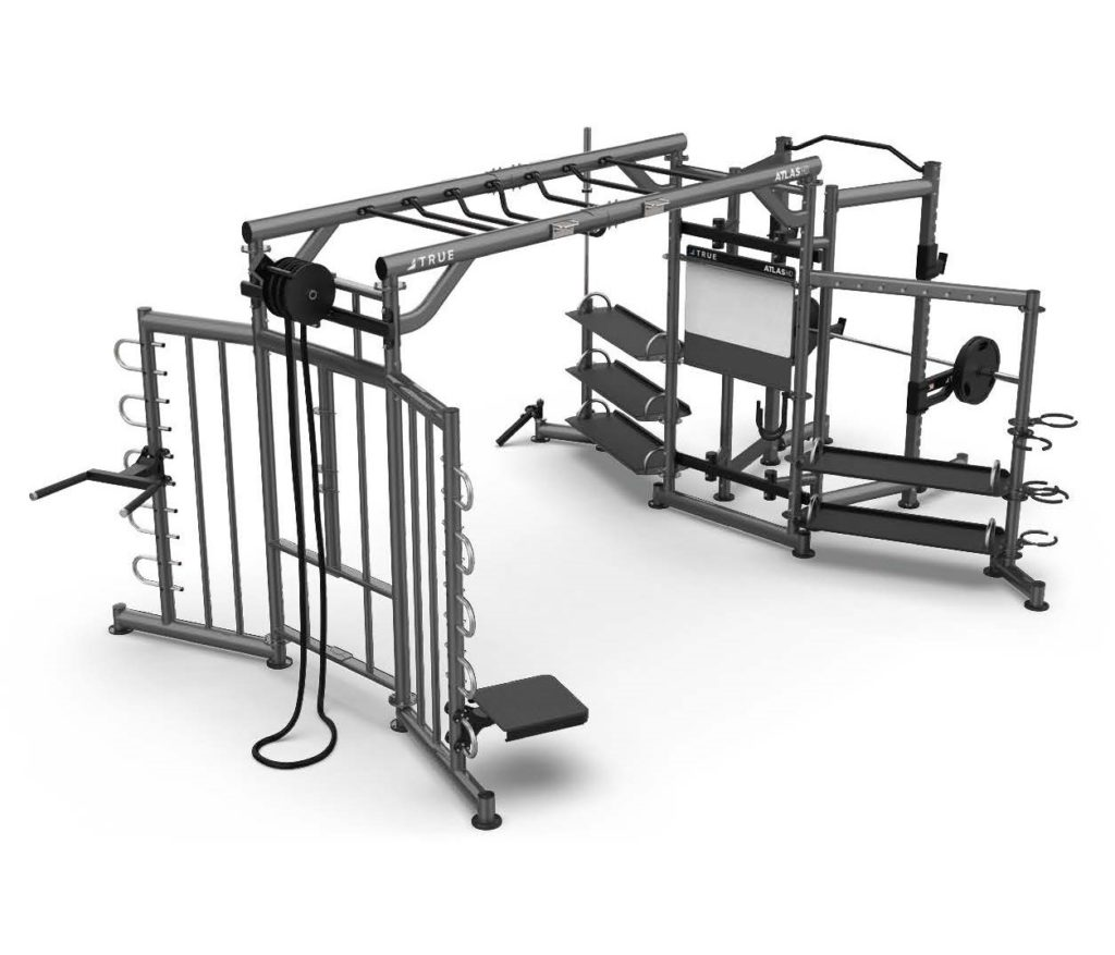 ATLAS HD Our largest freestanding Group Training System with even more options for customization with functional trainer and accessory add-ons. Space-efficient and built for optimal performance with groups large and small with the performance and reliability you can expect from TRUE.