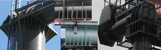 Signature Torsion Box Connection – One reason why our signs fare well in Hurricane winds as compared to many of our competitors.