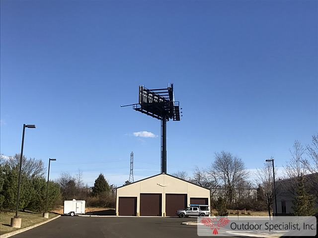 New billboard structure for Jersey Premier Outdoor Media Westampton, NJ