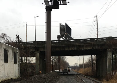 image - challenges faced by Outdoor Specialist including over pass and rail right of way.