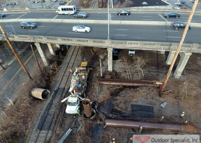 image Arial view Cementing foundation CSX Englewood New Jersey Billboard Project
