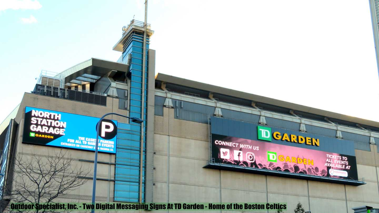 Outdoor Specialist, Inc installed signs TD Garden
