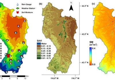 Systems and Methods to Downscale Resolution of Coarse-Resolution Soil Moisture Data (EMT+VS Model)