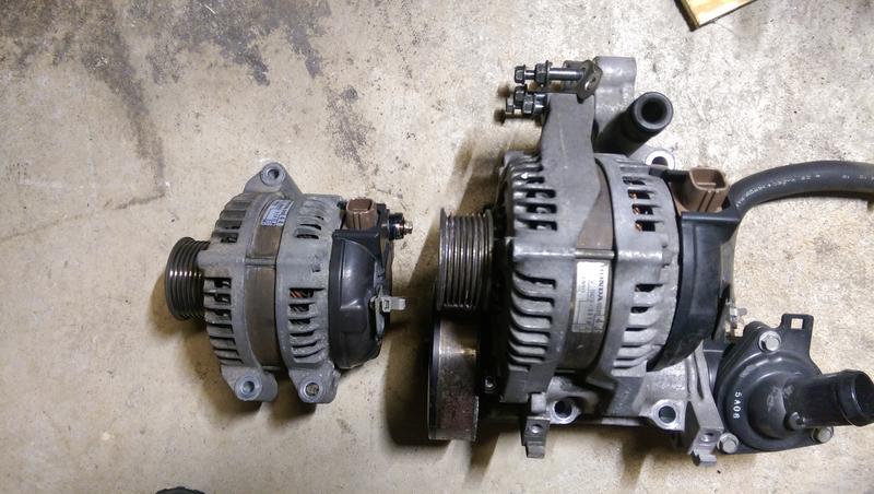 JDM K24A vs K20Z3 Alternator difference