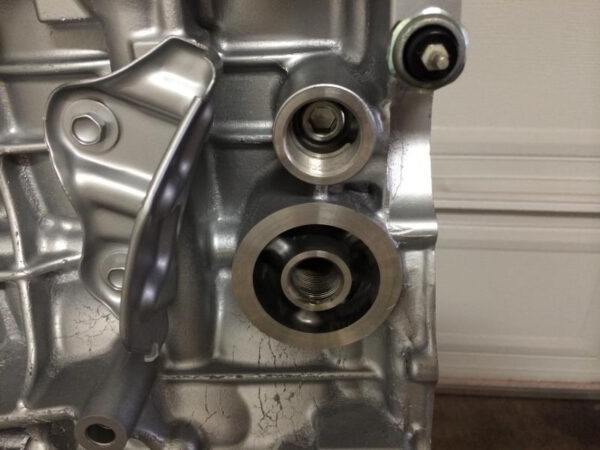 Oil filter inlet remed