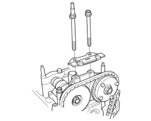 upper chain guide removal
