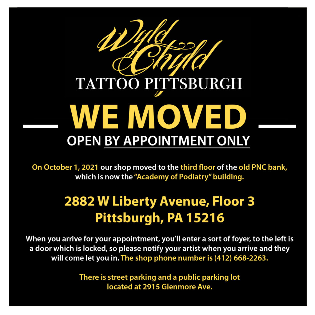 We moved to 2882 W Liberty Ave, Floor 3 Pittsburgh, PA 15216 on October 1, 2021.
