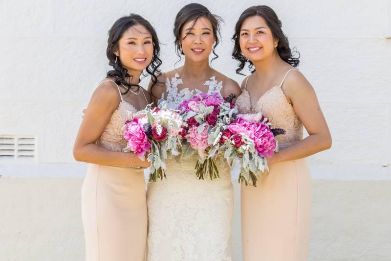 Diana and bridesmaids