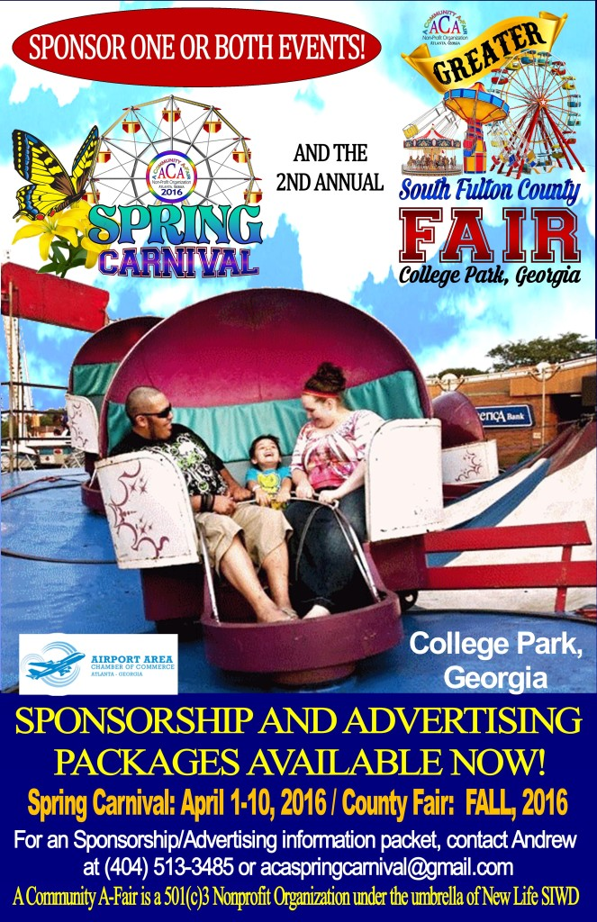 Spring Carnival and Greater South Fulton County Fair Information