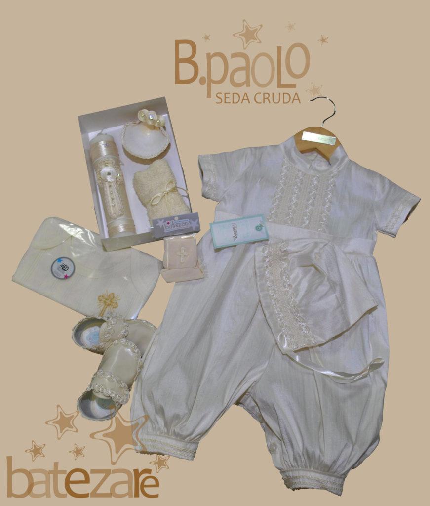 Paquete de bautizo Mod. PAOLO fabricado en 100% Seda incluye Bombacho y Gorrito, Kit de Vela Concha y fe de bautizo, Zapatos, Pañalero interior y Calceta de Bautizo