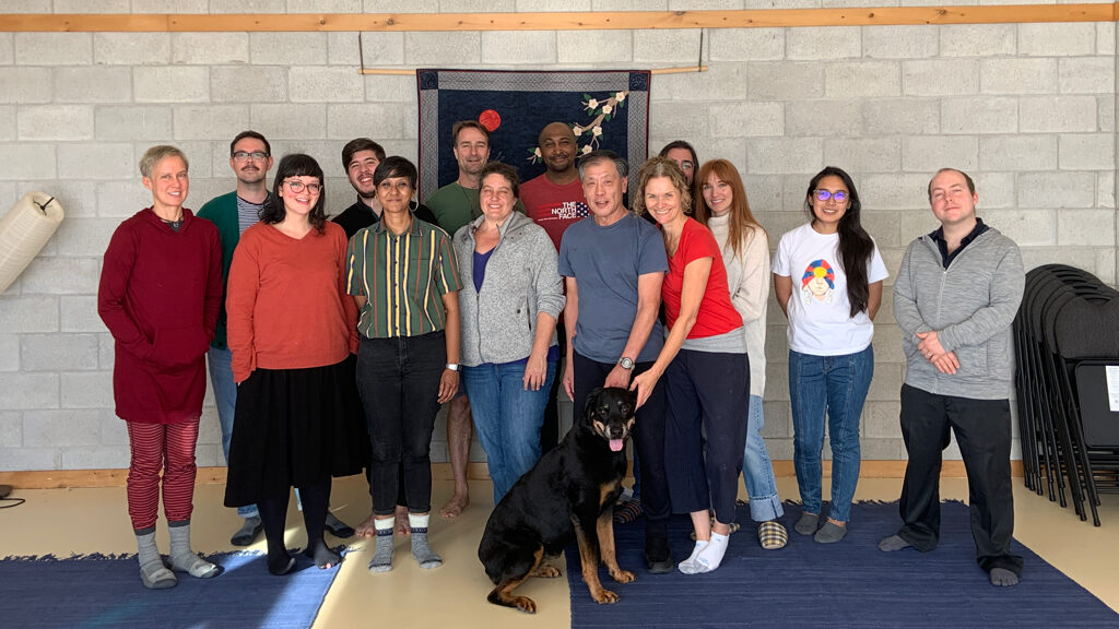 Group shot of graduate students and faculty from University of Toronto and McMaster University at a weekend writing retreat