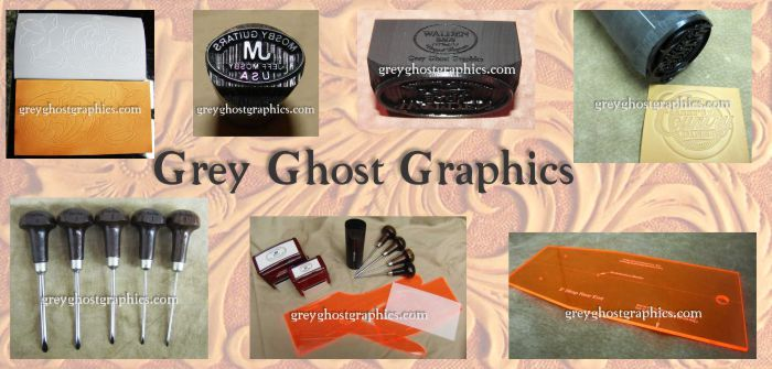 Custom maker stamps for leather