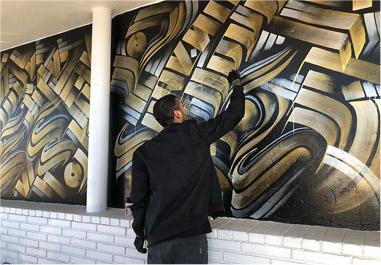 Mural art at Art Supply Warehouse by Zak Perez