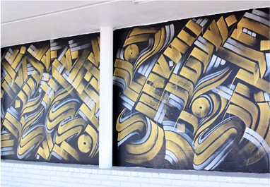 Mural at Art Supply Warehouse in Orange County