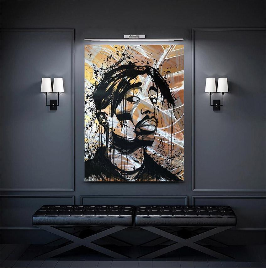 Tupac portrait by Zak Perez