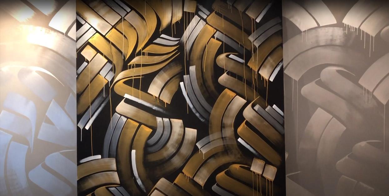 Mural at otingham Gallery Newport Beach