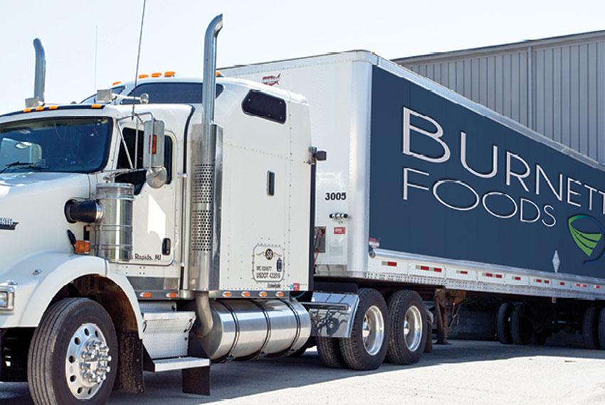 burnette foods semi truck in new era michigan