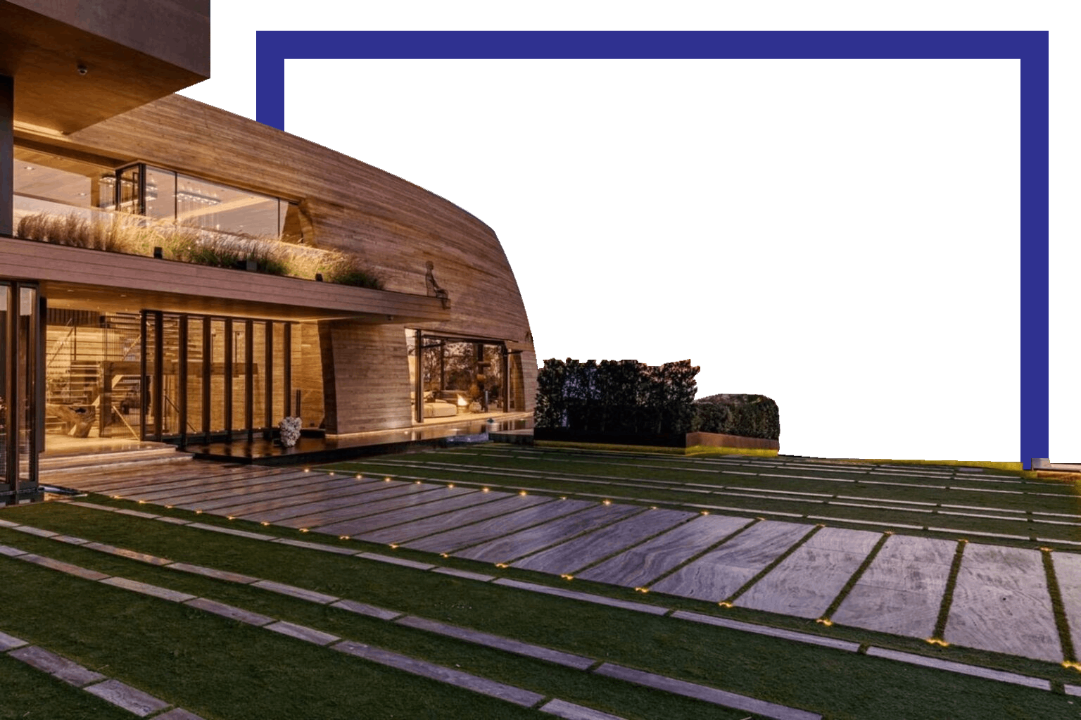 House sunset square background
