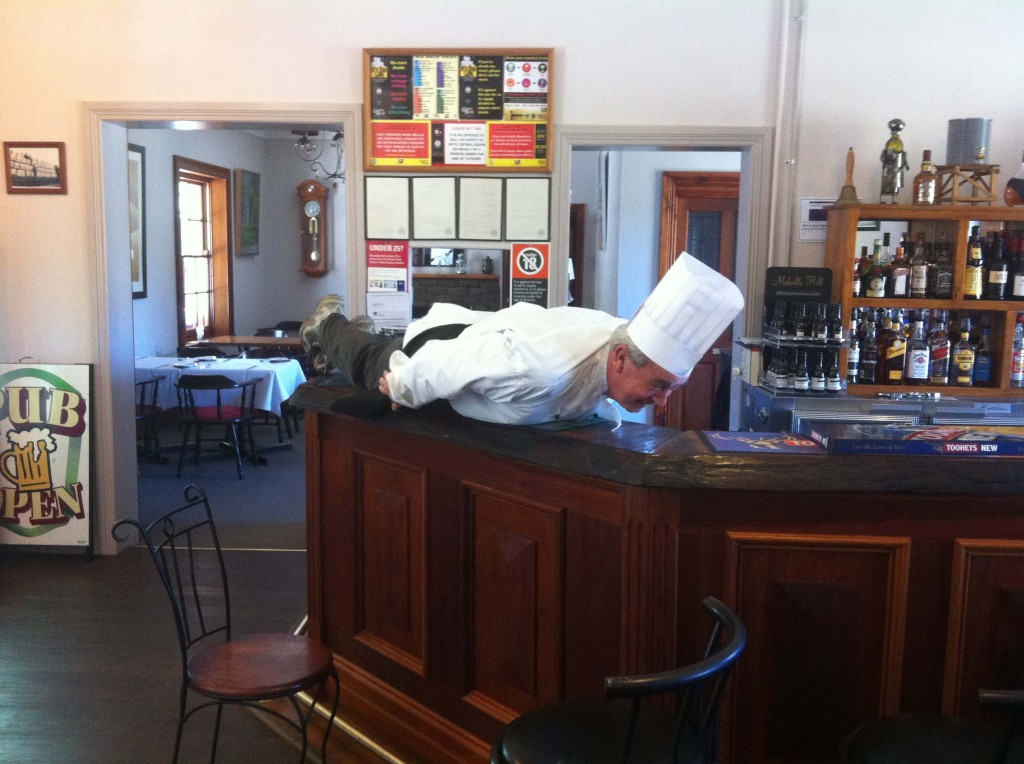 Our Chef having a bit of fun -- Planking