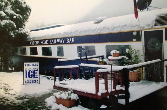 """The Walcha Road """"Railway Bar"""" on a snowy day"""