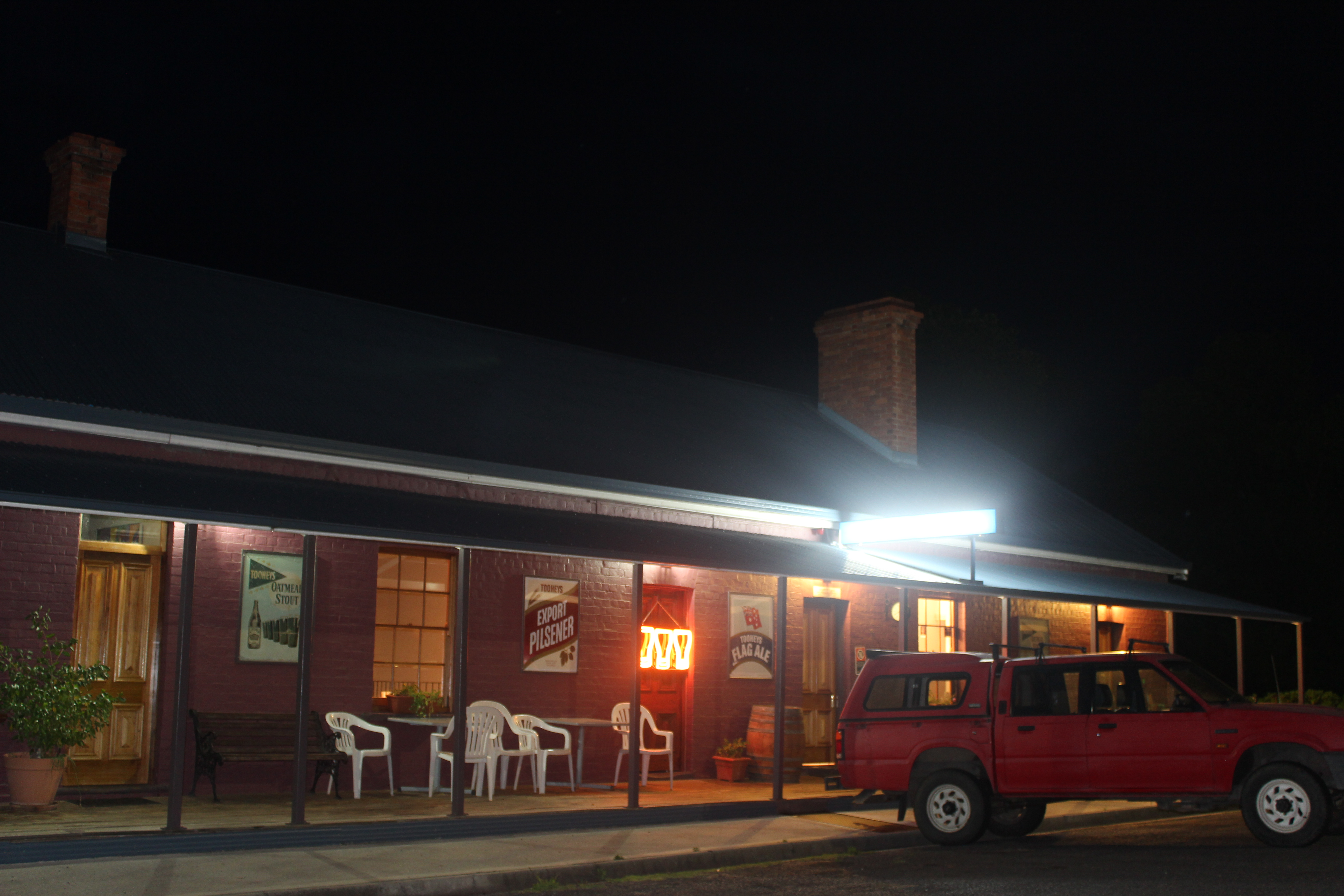 Front of pub Night Time