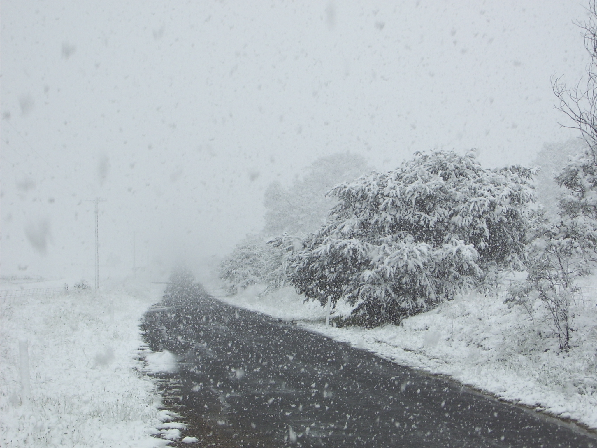 Road covered in snow