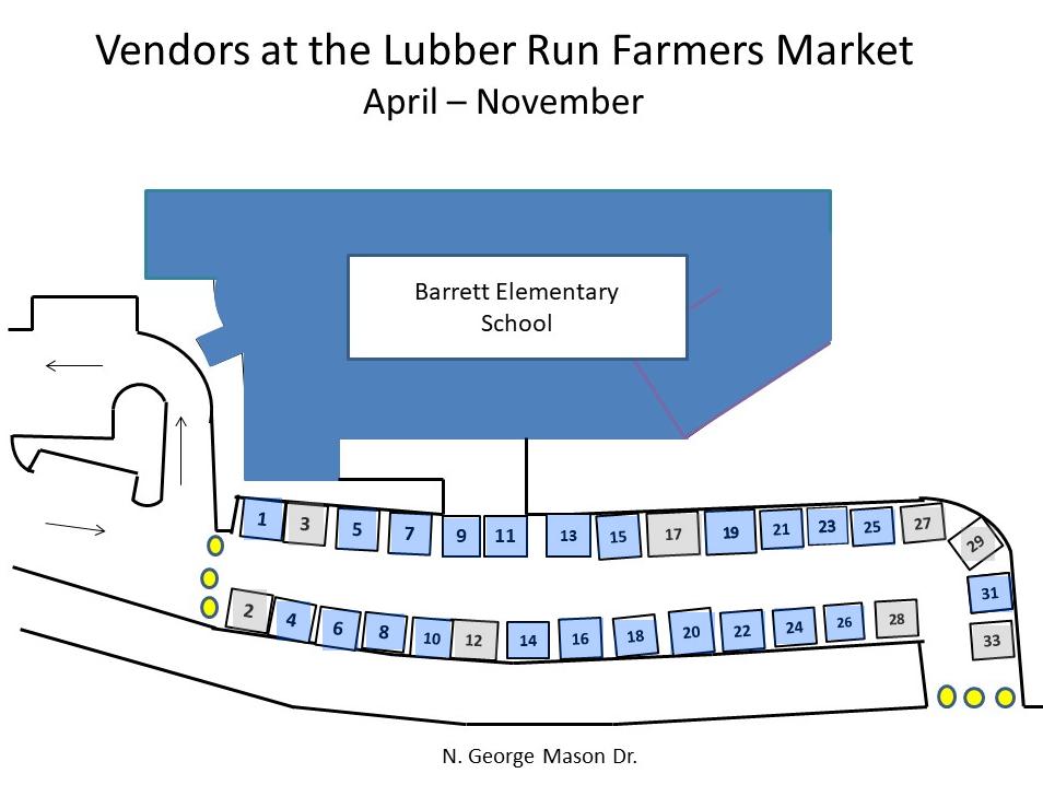 Lubber Run Farmers Market Map