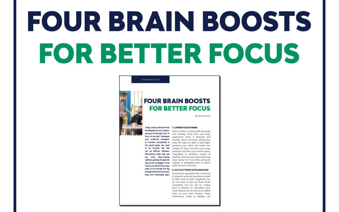 Four Brain Boosts for Better Focus