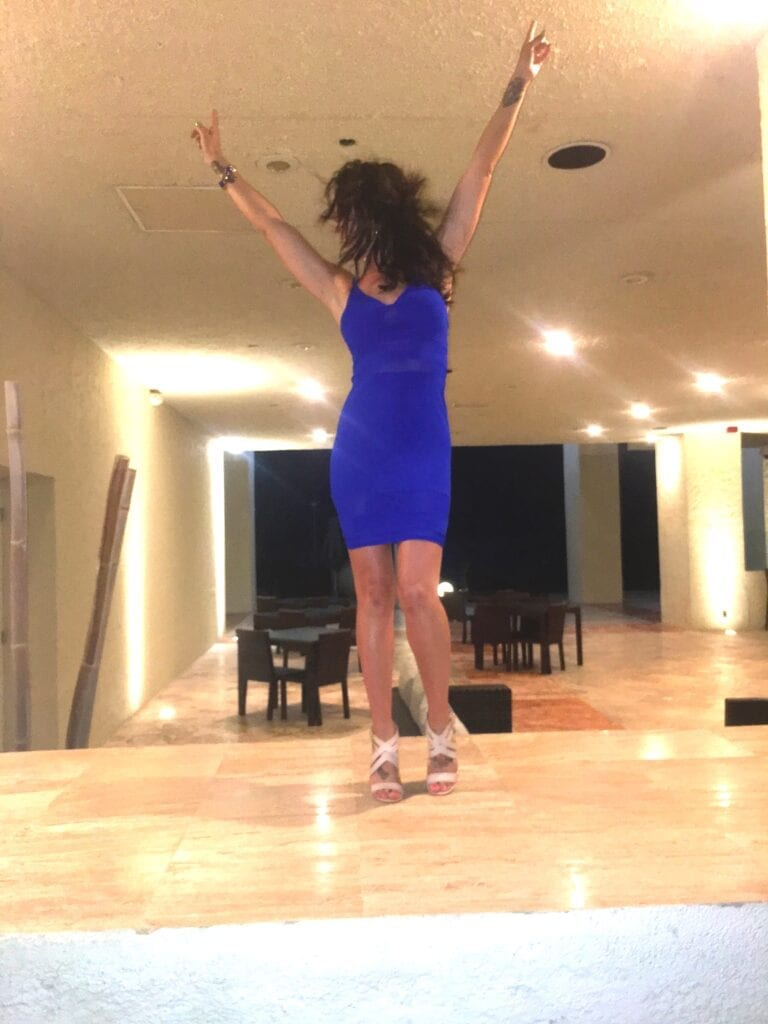 Girl dancing in Cancun