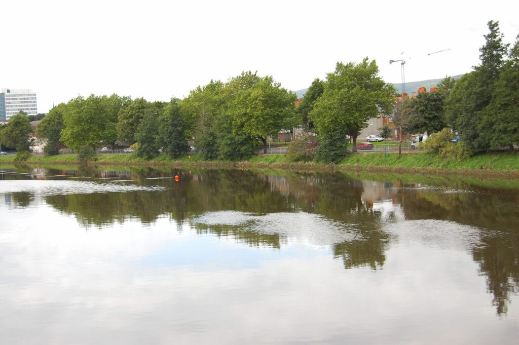 Lake in Botanical Gardens in Belfast, Ireland